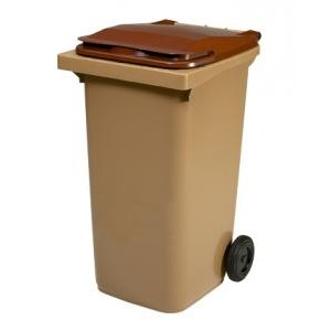 Container 240 litres marron