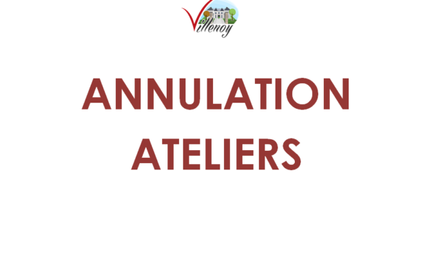 ANNULATION ATELIERS