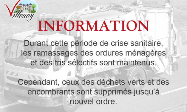 INFORMATION – RAMASSAGE DES ORDURES MENAGERES